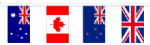 Commonwealth Nation Bunting, rectangular, 70 countries, 19.5 metre.